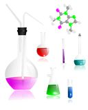 Chemistry equipment, cdr vector Stock Photo