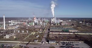 Chemistry factory in Lithunia, Achema stock footage