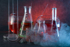 Chemistry flask Royalty Free Stock Image