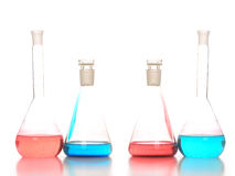 Chemistry flask royalty free stock photography