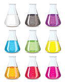 Chemistry flask collection Stock Photo