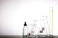Chemistry flask glassware Royalty Free Stock Photos