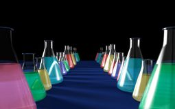 Chemistry Flasks Stock Photography