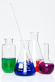 Chemistry flasks Stock Photos