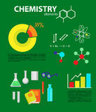 Chemistry flat icons collection. Stock Images