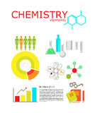 Chemistry flat icons collection. Royalty Free Stock Images