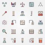 Chemistry flat icons Royalty Free Stock Photo