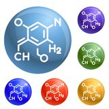 Chemistry formula icons set vector royalty free illustration