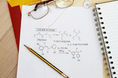 Chemistry Formulas Royalty Free Stock Photography
