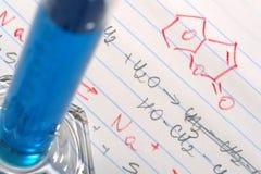 chemistry formulas lab research science Στοκ φωτογραφία με δικαίωμα ελεύθερης χρήσης