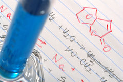 Chemistry Formulas in Science Research Lab Royalty Free Stock Photography