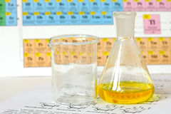 Chemistry glass Royalty Free Stock Photo