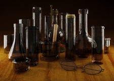 Chemistry glass vessels Stock Image