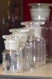 Chemistry glass vessels stock photo