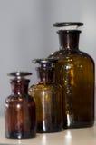 Chemistry glass vessels stock image