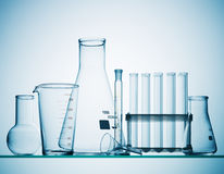Chemistry glassware royalty free stock image