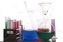 Chemistry glassware Royalty Free Stock Photos