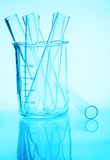 Chemistry glassware Stock Images