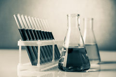 Chemistry glassware Stock Photos