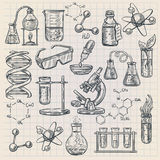 Chemistry Icon  In Doodle Style Royalty Free Stock Photography