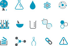 Chemistry Icon Set Stock Photography