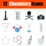 Chemistry icon set Royalty Free Stock Image