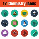 Chemistry icon set Stock Images