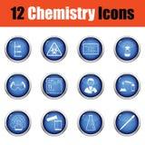 Chemistry icon set. Stock Photo