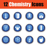 Chemistry icon set. Stock Images