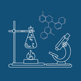 Chemistry icon. Vector illustration Royalty Free Stock Photography