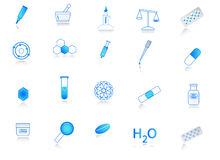 Chemistry icons Stock Photo