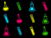 Chemistry icons Royalty Free Stock Image