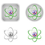Chemistry icons Stock Photography