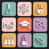Chemistry icons  for learning and web applications Stock Photo