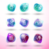 Chemistry icons set Royalty Free Stock Photography