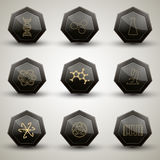 Chemistry icons set Royalty Free Stock Photos