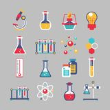 Chemistry icons set Stock Photo