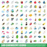 100 chemistry icons set, isometric 3d style. 100 chemistry icons set in isometric 3d style for any design illustration stock illustration