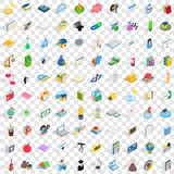 100 chemistry icons set, isometric 3d style. 100 chemistry icons set in isometric 3d style for any design vector illustration Royalty Free Stock Photography