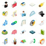Chemistry icons set, isometric style Royalty Free Stock Photography
