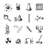 Chemistry icons set Stock Images