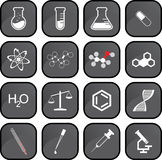 Chemistry icons Stock Image