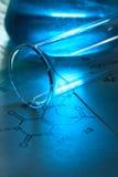 Chemistry image with formula Stock Image
