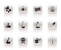 Chemistry industry icons Royalty Free Stock Photo