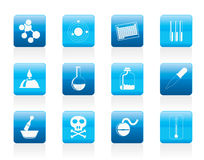 Chemistry industry icons Royalty Free Stock Image