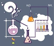 Chemistry infographic laboratory Stock Images