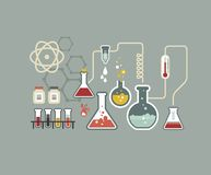 Chemistry infographic Stock Images
