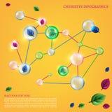 Chemistry infographic Stock Photo