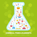 Chemistry infographics composition Stock Image