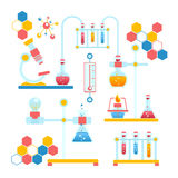 Chemistry infographics composition Royalty Free Stock Images